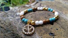 Beautiful Boho Semi Precious Gemstone Bracelet by MilliMooDesigns, £15.00