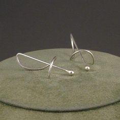 Silver Drop Earrings Argentium Sterling Silver Earrings A