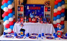 Captain America  Birthday Party Ideas | Superhero's Treats