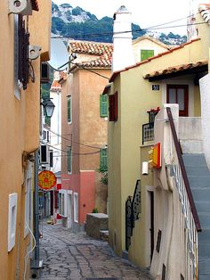 Street in Baska on Island Krk