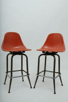 Mid Century Barstools - Eames style in Hotel Chelsea, 222 West 23rd Street, New York, NY 10011, USA ~ Krrb