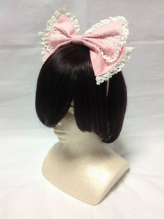 Cute Lace Headbow in Pink from Baby, the Stars Shine Bright - Lolita Desu