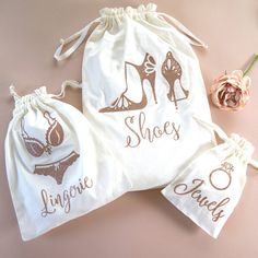 Brides Keepsake And Travel Bag Set Are you interested in our gifts for the brid. Brides Keepsake And Travel Bag Set Are you interested in our gifts for the bride? Delicate Lingerie, Bag Essentials, The Bride, E Commerce, Fabric Bags, Little Bag, Cotton Bag, Luxury Bags, Bride Gifts