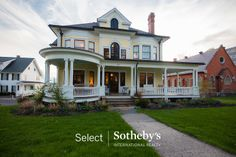 Updated Historic Victorian home at sunset. 331 Main Street, Aurora. Photo by Linda at Select Sotheby's International Realty