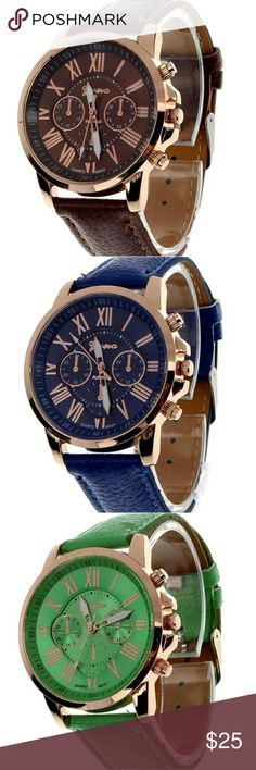 CASUAL MENS PU LEATHER ROMAN NUMERAL QUARTZ WATCH Feature:  100% brand new and high quality  A classic look, this fashion geneva roman numerals analog quartz wrist watch is specially designed with metal case and faux leather band  Movement: Quartz : Battery  Gender: Women's  Display: Analog  Style: Casual  Model: 9298  Features: Easy To Read  Case Material: Metal  Case Diameter: 4cm/1.57'' (Approx.)  Band Material: Faux Leather  Band Length: 23cm/9.06'' (Approx.) (Case is Included)  Band…
