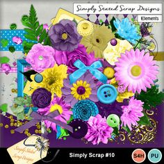 Pack of 60 Elements for the Simply Scrap kit #10. Personal & Scrap for Hire use only. Full size. 300 dpi. 12 x 12. Beads, Bows, Brads, Buttons, Corners, Flowers, Frames, Leaves, Masks, Ribbons, Scatters, Wrappers #mymemories #mymemoriessuite #scrapbooking #digitalscrapbooking #digiscrapbooking #digitalscrapbookkits #kits #papers #elements #tags #frames #flowers #digitalflowers #digitalpapers #digitalribbons #digitalbows #digitalframes #digitalscatters #digitalmasks