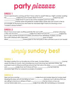 All Things Bright and Beautiful: Young Women Activity : Project Runway Challenge