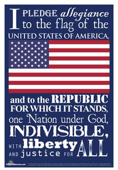 Check out our latest exclusive - the Pledge of Allegiance Poster. This makes a great classroom addition, as well as for your patriotic home decor.  #pledgeofallegiance #poster #patriotism