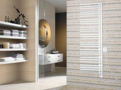 Radiateur sèche-serviette électrique FLOWA - blanc - 165*50 cm