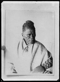 Tukaroto Matutaera Potatau Te Wherowhero Tawhiao, [ca 1870s]. He has full facial moko and wears a tiki. Photographer unknown.