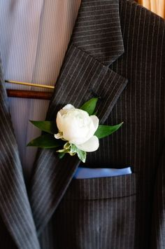 Peony boutonniere for the boys :)