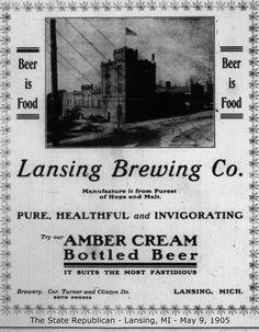 https://flic.kr/p/y2Jszr | Lansing Brewing Company advertisement-1905-05-09-Lansing, MI