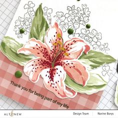Small Flowers, Pink Flowers, Altenew Cards, Stargazer, 30 Gifts, Pink Gingham, Gift Certificates, Ink Color, Background Patterns