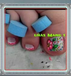 Uñas de pies Acrylic Nail Art, Toe Nail Art, Toe Nails, Cute Pedicure Designs, Toe Nail Designs, Pretty Pedicures, Colorful Nail Designs, You Nailed It, Nail Colors