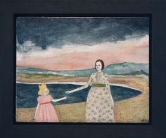 clover followed her imaginary friend everywhere - framed by amanda blake art, via Flickr