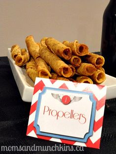aviation birthday party food-propellers