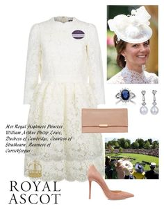 """""""Duchess at Royal Ascot"""" by lilymae1997 ❤ liked on Polyvore featuring Alexander McQueen, Gianvito Rossi and Loeffler Randall"""