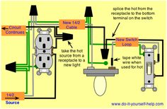 wiring diagram receptacle to switch to light fixture 3