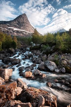 Mountain river-- Stefjordbotn, Nordland, Norway