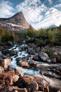 Mountain river-- Stefjordbotn, Nordland, Norway