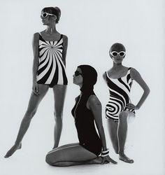 Op-art swimwear