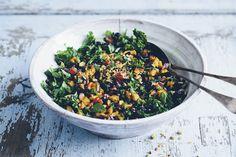 black rice, kale & aubergine pilaf.