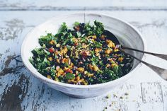 Black_rice, kale and aubergine pilaf