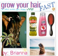 """grow your hair;; the f a s t e s t remedy"" by the-tip-girly ❤ liked on Polyvore"
