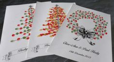 Personalised Christmas Wedding Thumb-Print Guest Book Tree  Our Thumb-Print Tree Guest Book is a beautiful and unique alternative to the traditional wedding guest book and a really nice keepsake for after your wedding! Enjoy your Guest Tree as a special piece of art in your home, not a memory stored away in a box! Christmas Wedding, Christmas Tree, Guest Book Tree, Thumb Prints, Wedding 2017, Wedding Guest Book, Traditional Wedding, Really Cool Stuff, Book Art
