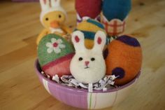 "Free Felting Tutorial: Needle Felted Bunny Ball, ""Dot""!"