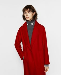 Image 2 of COAT WITH POCKETS from Zara