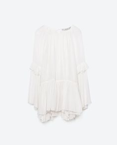 Image 8 of VOLUMINOUS FRILLED TOP from Zara