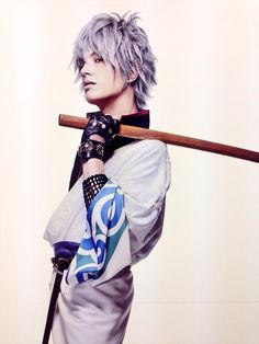 Brave Silver Soul Gintama Hijikata Toushirou Wooden Sword Cosplay Prop Costumes & Accessories