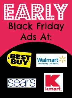 Online Black Friday Sales Starting Early at Walmart, Best Buy, Kmart, Sears - Check out these deals going on NOW!