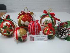 Bolas de Natal em Patchwork