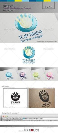 Top Riser Logo  #GraphicRiver        Description  Top Riser Logo, is an elegant professional logo which could be used as company's logo or any modern and trending business. You may like to use this logo as your business logo, application logo, or in your own creative way. Include Files   Logo AI file  LOGO EPS file  Quick Guide PDF Format  Favicons (To be used for web browsers and bookmark icons)  Quick Guide There is a quick guide prepared in PDF format showing how to edit and customize the…