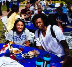 Lynn students enjoying free food #Lynning