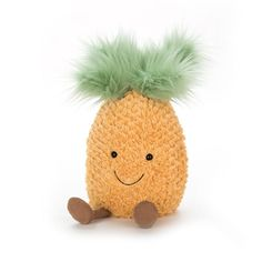 Jellycat Amuseable Pineapple joins his tropical friends for a brand new Amuseable adventure. Pineapple has scruffly fur and a funky hairdo of minty fluff! The new amuseable range are delightfully daft, but sure to be just the best quirky gift. Dog Toys, Baby Toys, Funny Fruit, Pet Gear, Tropical, Jellycat, Baby Kind, Plushies, Softies