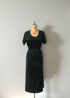emerald velvet maxi dress  pin tucked pleats tie by adriancompany