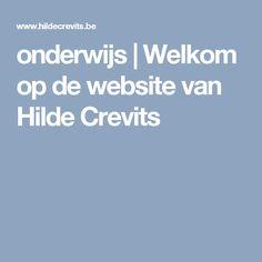 Website van Hilde Crevits, minister van onderwijs