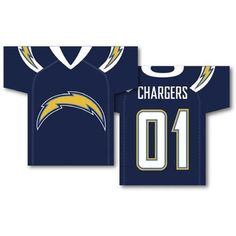 San Diego Chargers NFL Jersey Design 2-Sided 34 x 30 Banner