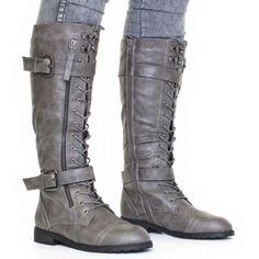 Amazon.com: Wild Diva Women's Fashion Timberly-65 Military Knee ...