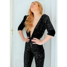 Incredible Sexy Black Sequin Jumpsuit for a crazy night out in towm! Crazy Night, Night Out, Black Sequin Jumpsuit, Black Sequins, The Incredibles, Sexy, Dresses, Fashion, Vestidos