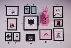 Minha Gallery wall + onde baixar e imprimir ilustrações http://omundodejess.com/2015/06/minha-gallery-wall-onde-encontrar-ilustracoes-para-baixar-e-imprimir/ | O Mundo de Jess