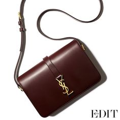 This shoulder bag by #SaintLaurent has all it takes to elevate your denim. Polished leather, iconic hardware, cool shape and dark burgundy shade take you anywhere, along with your favourite indigo pieces. Shop it now at NET-A-PORTER.COM or via the free The EDIT by NET-A-PORTER app to #SeeitLoveitBuyit
