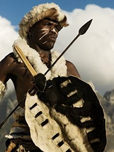Zulu Warrior, South Africa.                                                                                                                                                      More