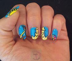 365 days of nail art : 06-06-2013 Nail art beach