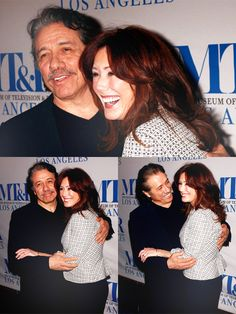 Edward James Olmos and Mary McDonnell. Very nice couple.