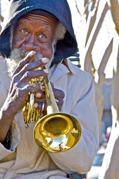 your typical New Orleans street Jazz musician