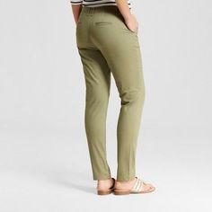Women's Skinny Chino Pants - Merona Healthy Green 16
